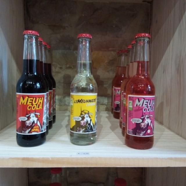 Limeuhnades, Meuh Cola, pomeuhnade et pétillant fleur de sureau